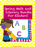 Spring Math and Literacy Bundle for Kinders! NO PREP!