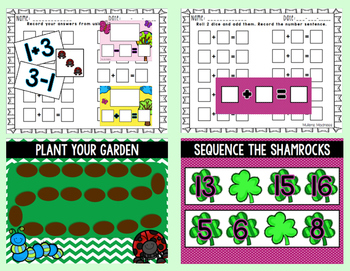 Spring Math and Literacy Centers!