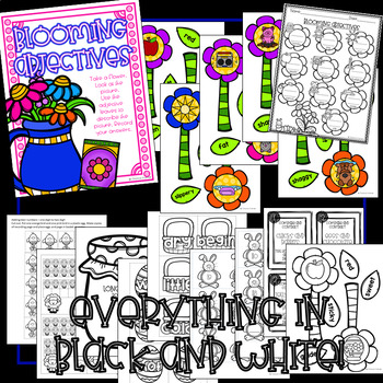 Spring Math and Literacy Centers (with Blackline to Save Ink!!)