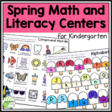 Printable Spring Math and Literacy Centers for Kindergarten