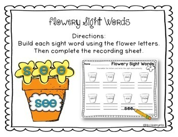 Spring Math and Literacy Centers {kindergarten}