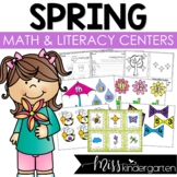 Spring Centers for Math and Literacy Centers in Kindergarten
