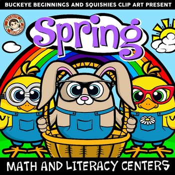 Spring Math and Literacy Centers - Egg Themed