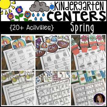 Spring Math and Literacy Centers {CCSS}
