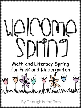 Spring Math and Literacy FREE VERSION, PreK and Kindergarten
