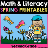 Spring Math and Literacy No-Prep {2nd Grade}