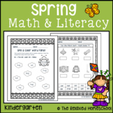Spring Math and Literacy Pack - Kindergarten