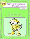 Spring Worksheets Emergent Reader Task Cards