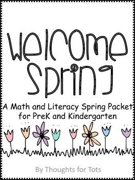 Spring Math and Literacy Packet, PreK and Kindergarten BUNDLE!