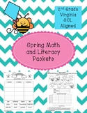 Spring Math and Literacy Packets - 2nd Grade