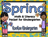 Spring Math and Literacy Printable Pack for Kindergarten