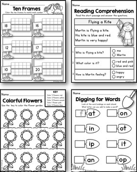 Spring Math and Literacy Printables Packet [Kindergarden]