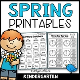 Spring Math and Literacy Printables Packet [Kindergarden] Distance Learning