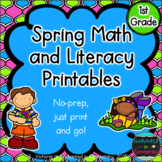 Spring No Prep Math and Literacy Printables for First Grade