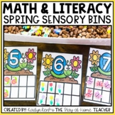 Spring Math and Literacy Sensory Bins