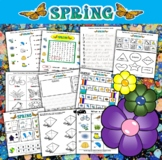 Spring Math and Literacy Workbook (80 pages)