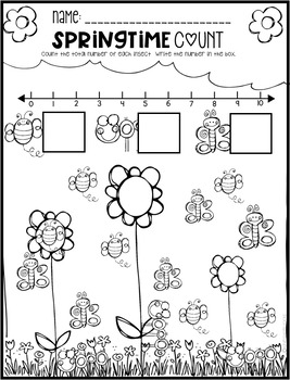 Spring Math and Literacy Worksheets for Preschool by Kindergarten Rocks