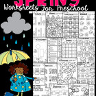 Spring Math and Literacy Worksheets for Preschool