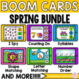 Spring Math and Phonics Digital Boom Cards™ Bundle
