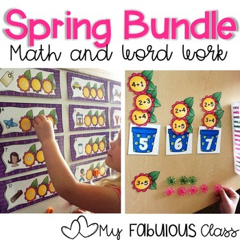 Spring Math and Word Work BUNDLE