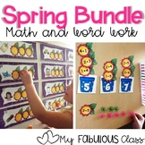 Spring Math and Word Work BUNDLE
