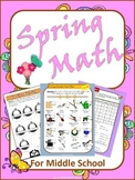 Spring Math for Middle School