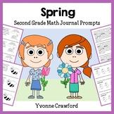 Spring Math Journal Prompts (2nd grade)