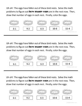 Spring Math Journal Prompts (kindergarten)
