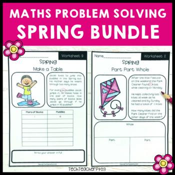 Spring Maths Problem Solving Bundle Part Part Whole, Number Line and more!