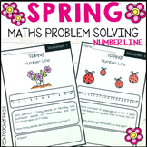 Spring Math Problem Solving Number Line Strategy