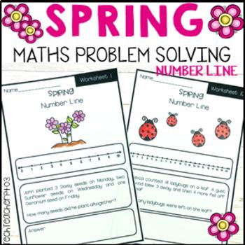 Spring Maths Problem Solving Number Line Strategy 10 Worksheets