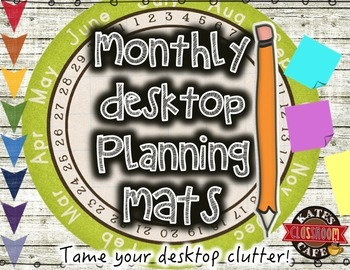 Desktop Planning and Organization Printable