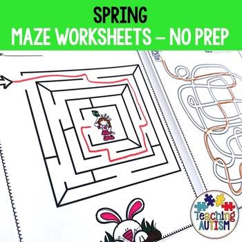 Spring Maze Worksheets
