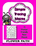 Spring Mazes - Simple Tracing - Fine Motor   #DistanceLearning