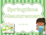 Spring Measurement Activity - Measuring to the Nearest 1/2
