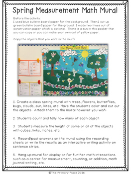 Spring Measurement & Addition Math Mural