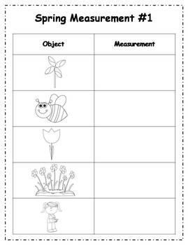 Spring Measurement Math Center Activities