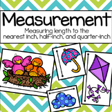 Spring Measurement: Measuring to the Nearest Inch, Half-Inch, & Quarter-Inch