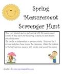 Spring Measurement Scavenger Hunt