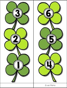 St. Patrick's Day Measuring --- How Many Shamrocks Tall Are You? Math Center