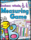 Measuring Game - Inches, 1/2 Inches, & 1/4 Inches - 32 Tas