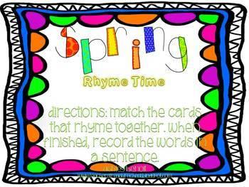 Spring Mega Literacy & Math Center Packet {22 Centers}