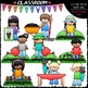 Spring Mega Mix Clip Art & B&W Bundle (7 Sets)