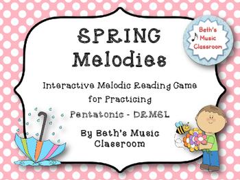 Spring Melodies - Interactive Melodic Reading Game {Pentatonic - DRMSL} Kodaly