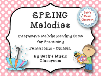 Spring Melodies - Interactive Melodic Reading Game {Pentat