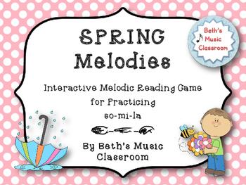 Spring Melodies - Interactive Melodic Reading Game {So-Mi-La} Kodaly