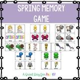 Spring Memory Game for Preschool, Prek, and Kindergarten