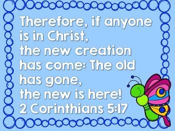 Spring Memory Verse Scramble- 2 Corinthians 5:17