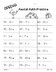 Spring Mental Math 2-Digit Addition and Subtraction Practice