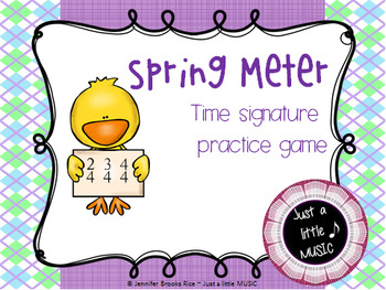 Spring Meter - A Time Signature Matching Game for 2/4, 3/4 and 4/4